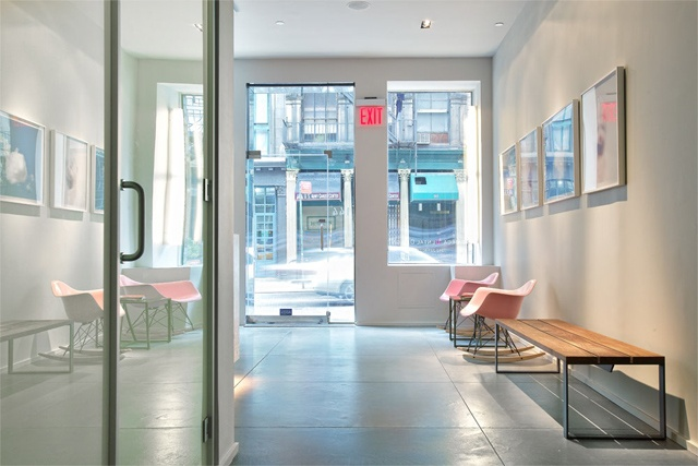 Tribeca Dental Office, modern dental office, eames chairs, reception area by doug stiles interior design
