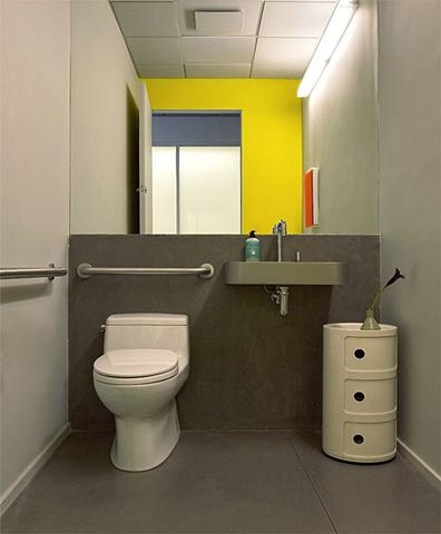 Tribeca Dental Office, modern dental office, modern bathroom by doug stiles interior design