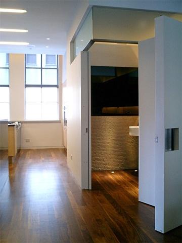 Washington Square Loft, modern minimalist  bathroom, by Doug Stiles Interior Design