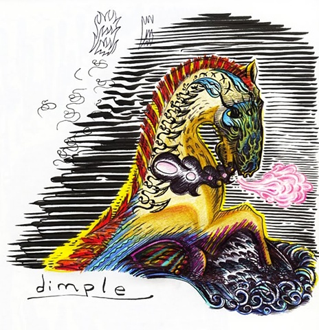 dimple, horse