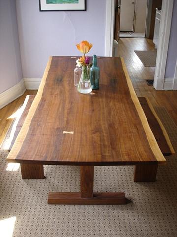 dining table, black walnut