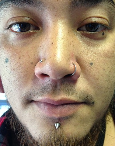 Nostril and Lip
