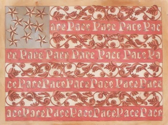 tribute to jasper, peace flag
