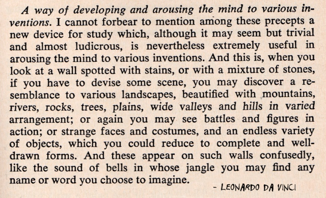 Leonardo da Vinci from treatise on painting