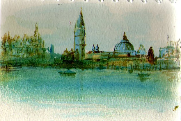 sketch of Venice (watercolor)