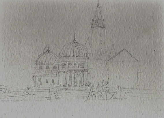 pencil sketch of venice-page from sketchbook