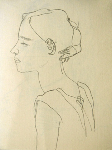 young girl (page from sketchbook)