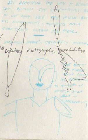 notes on Brancusi-page from sketchbook