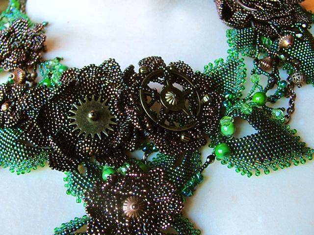 steampunk flowers detail