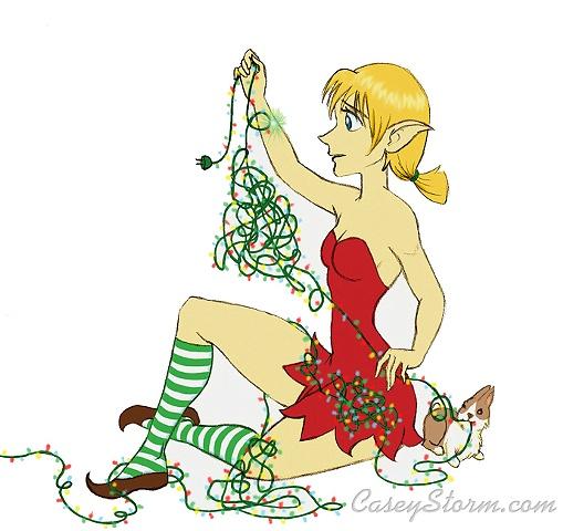 Tangled Lights Christmas Card