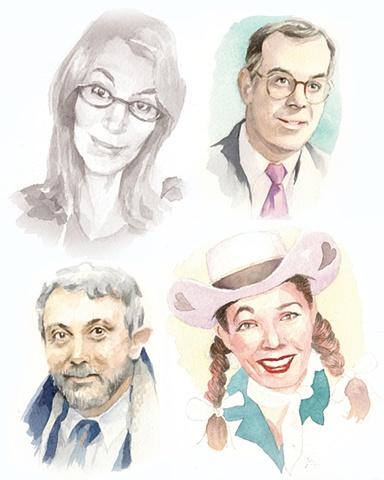 Unpublished watercolor portraits