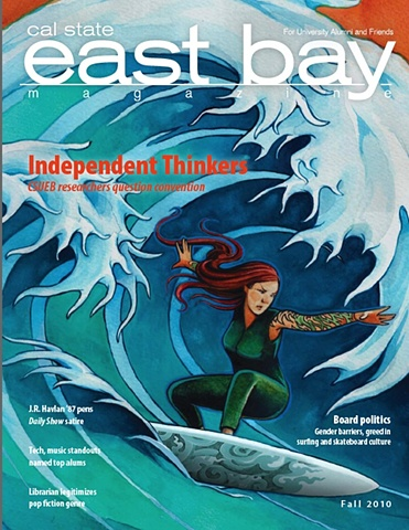 Cover Illustration, Cal State East Bay Alumni Magazine