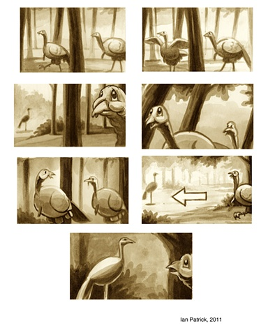 Additional Storyboards for Tom and Jake, animated short