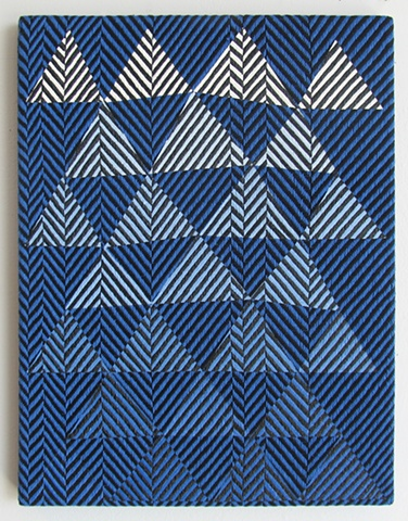 Untitled (blue to white triangles)