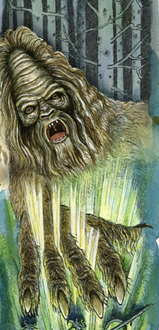The Revenge of the Sasquatch (detail)