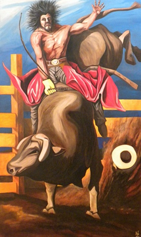 WESTERN AMERICAN ART, RODEO, NATURE, SPORT