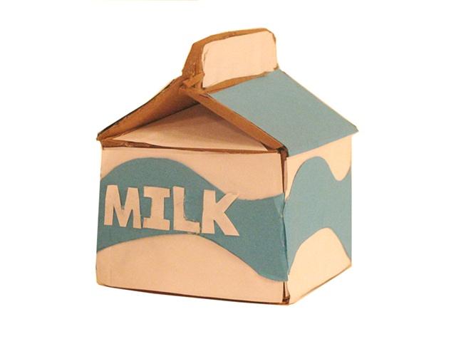 single milk carton finisded