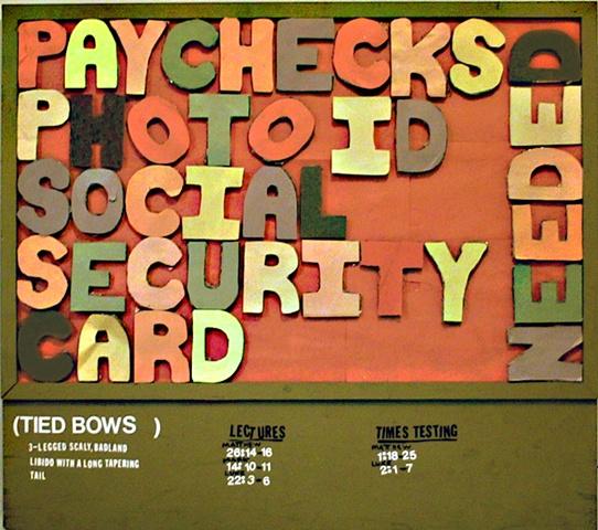 pay checks and photo ID