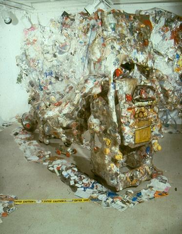 Monkey Act: Jeffery Driskill & Paul W. Perkins  Gallery X show (Secret 2040, Monkey suite wrap up relics and installation)