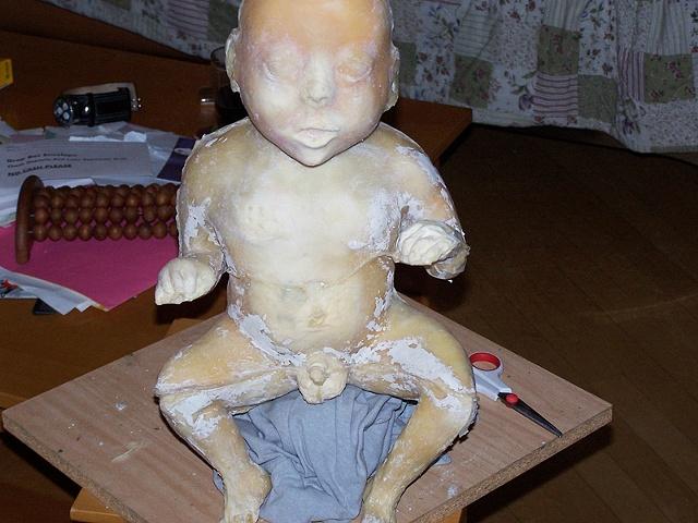 Jeffery Driskill Seven Billionth Baby Fresh from mold (untrimmed mold lines)
