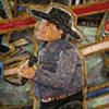 detail of ringsmen Jim Ross