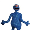 blue monster cut out