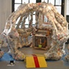 Monkey Act: Jeffery Driskill & Paul W. Perkins  Cage (front View) Gallery 2 (The School of the Art Institute Of Chicago)