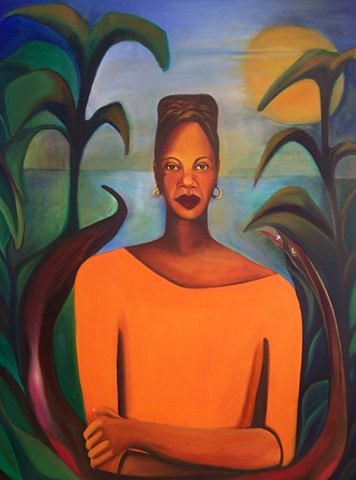 Oil Painting, Self portrait