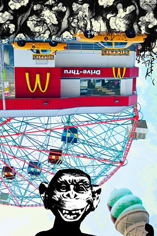 Digitalkunst, mixed media, kunst, streetart, popart, norsk kunstner, line marsdal, wireless