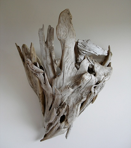Driftwood sculpture vincent richel clock hand made art fine woodswise owl Woodworking exotic lamps lighting