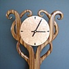 Zebra Wood Clock