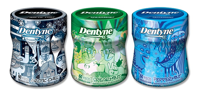 Dentyne Label Designs