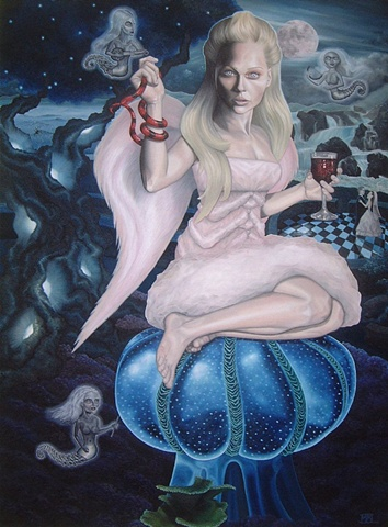 ophiuchus laura barnhard bash contemporary gallery oil painting pop surrealism lowbrow