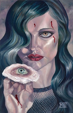 Stigmata laura barnhard oil painting pop surrealism lowbrow bash contemporary