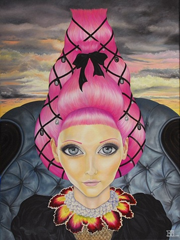 Soulscape laura barnhard bash contemporary gallery oil painting pop surrealism lowbrow