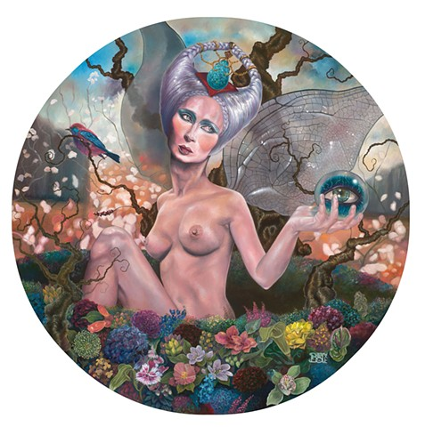 Fairies Magique laura barnhard oil painting pop surrealism lowbrow bash contemporary