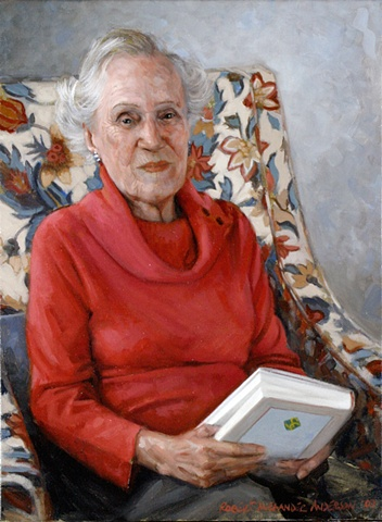 Marie Moore oil portrait  Stamford, Connecticut