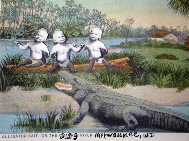 Alligator Bait, On the 213 River, Milwaukee, WI (detail)