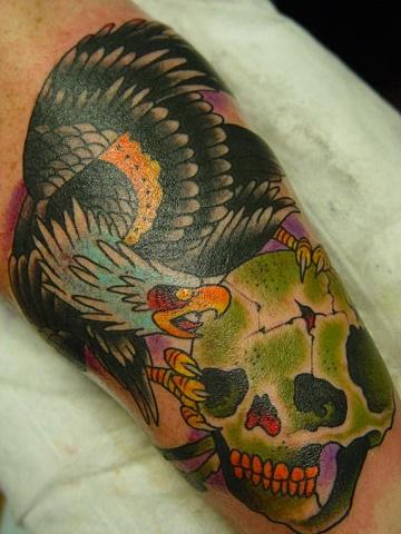 eagle on skull