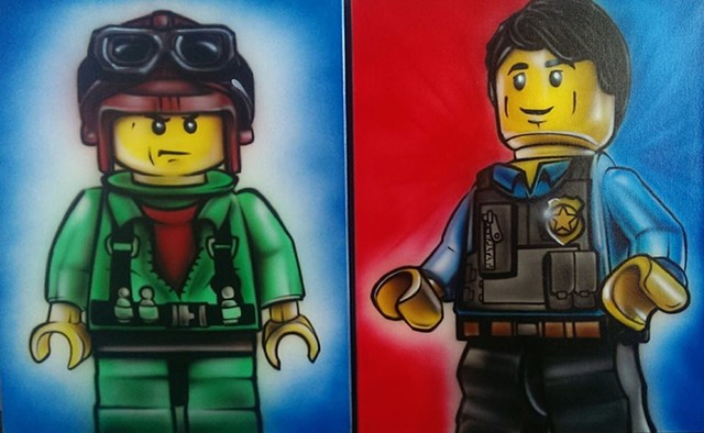 Lego Mural, Close Up