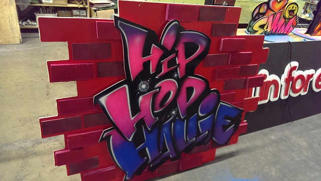 """Hip Hop Hallie"" DJ Sign"