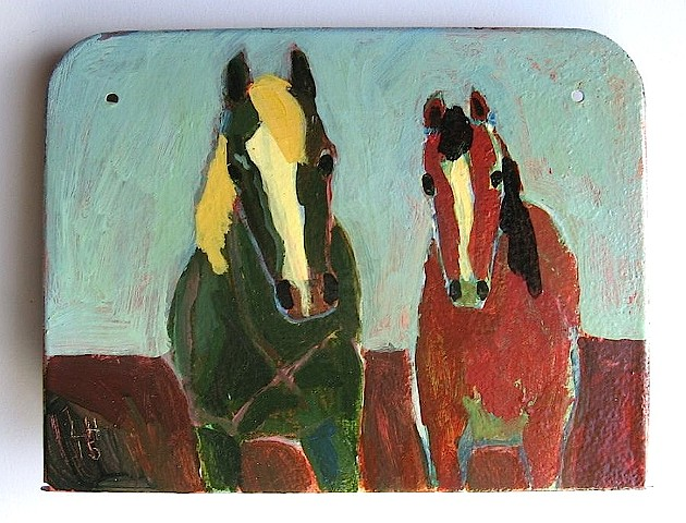 red&green horses