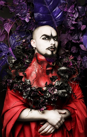 Photography , queer, fashion, haute coutre, Goth, gothic, Satanic, Saints, dark, glitter, queer, surreal, surreal photography, queer art, gay art, gay photography, Joel-Peter Witkin, Pierre et Gilles, fetish, masks, clowns, sexual clowns, skinless, hellra