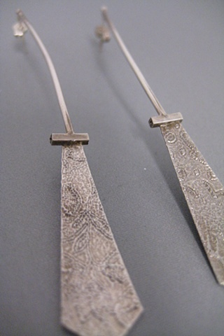 Etched Earrings