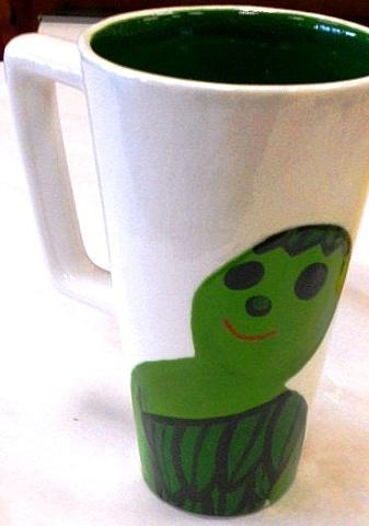 Greenie mug