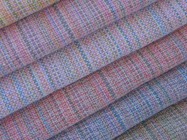 handwoven baby blanket, 100% cotton yarn, handwoven by Kathie Roig