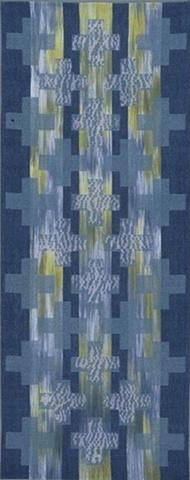 handwoven wall hanging, nature inspired, woven shibori, drawloom weaving by Kathie Roig