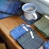 handwoven coasters and towels