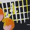 basket and three peaches