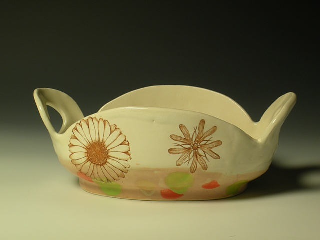 Serving Dish with Flowers